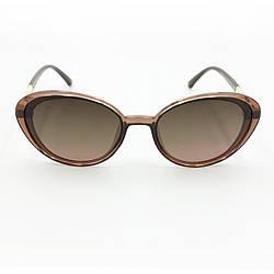 Модні сонцезахисні окуляри з поляризацією коричневі Burberry