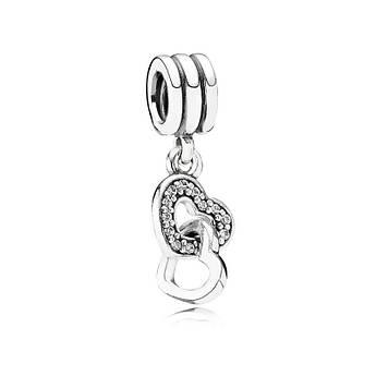 Подвеска «Сердца» из серебра в стиле Pandora