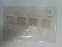 Бонбоньерка №002, белый жемчуг, 1 шт (код 04358)