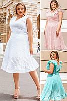 Летние платья большого размера Фабьян прошва