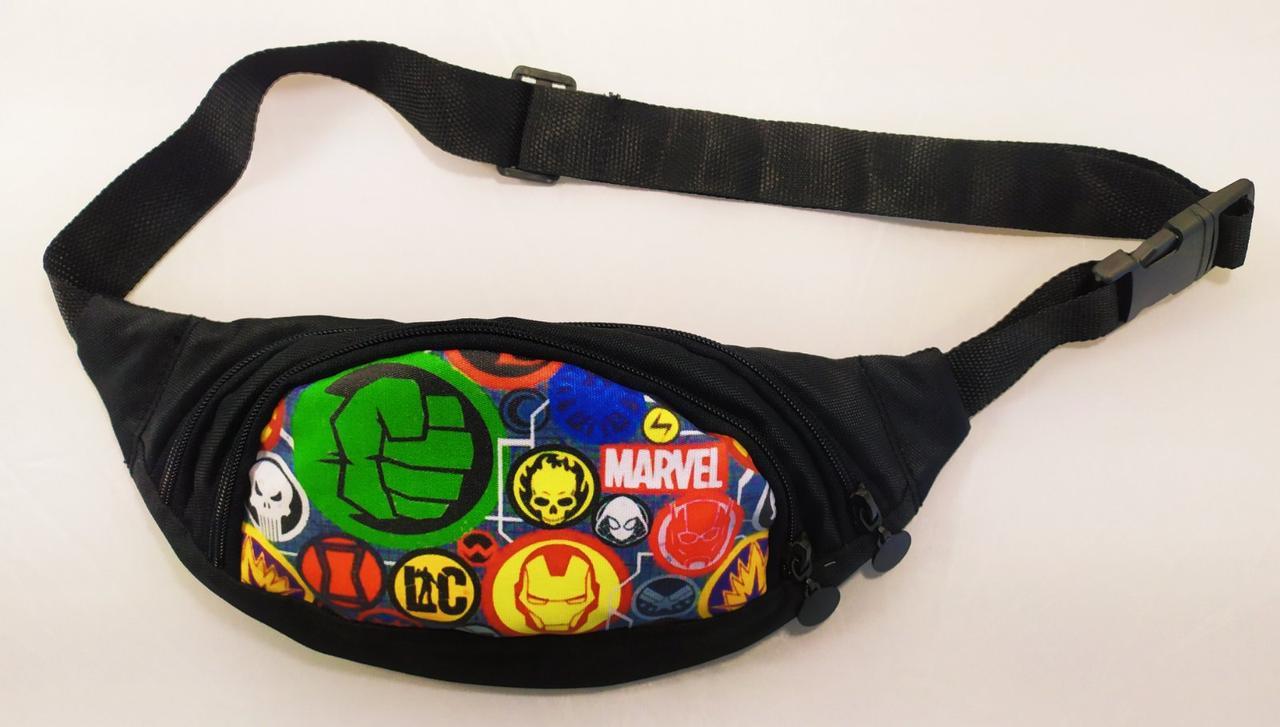 Поясная сумка (бананка) с героями, для мальчика в розницу и оптом