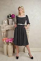 Элегантное платье в горох casual 141