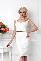 Коктейльное Молочное нарядное элегантное платье от производителя 143