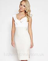 Платье трикотажное модное деловое casual милое платье от Lusien, фото 1