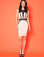 Коктейльное трикотажное стильное платье, фото 1