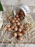 Бусины из светлого дерева, круглые, 30 шт,  диаметр - 2 см.,  15 гр., фото 3