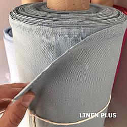 Синяя льняная ткань, LINEN PLUS, 45% лен, 55% хлопок, Плотность 395 г/м2(13497-1/1288)