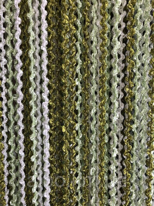 Шторы спираль радуга 300x280 cm Зеленый-оливковый-белый (Ki-4017)