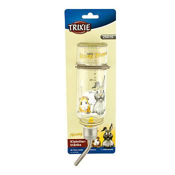 Поилка Trixie стекло для грызунов Honey&Hopper, 250 мл