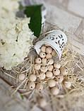 Натуральні дерев'яні намистини круглі, 50 шт, діаметр - 1,3 див., 15 гр., фото 3