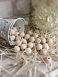 Натуральні дерев'яні намистини круглі, 50 шт, діаметр - 1,3 див., 15 гр., фото 2