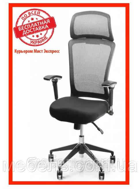 Кресло для врача Barsky BS-03 Style Black, сеточное кресло, черный
