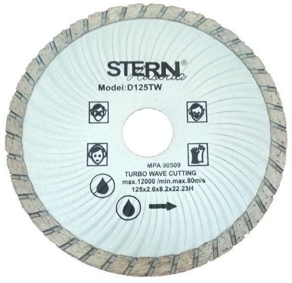 Диск 125 мм турбоволна алмазный отрезной Stern