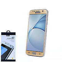 Защитное стекло Remax Tempered Glass for Samsung S7 Gold (TGS-G)