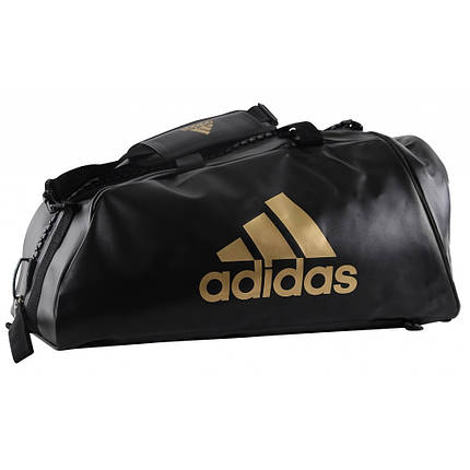 Сумка-рюкзак (2в1) с белым логотипом Adidas WBC (черный, ADIACC051WB), фото 2