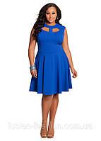 Трикотажное короткое летнее платье от Royal Lusien большого размера, фото 1