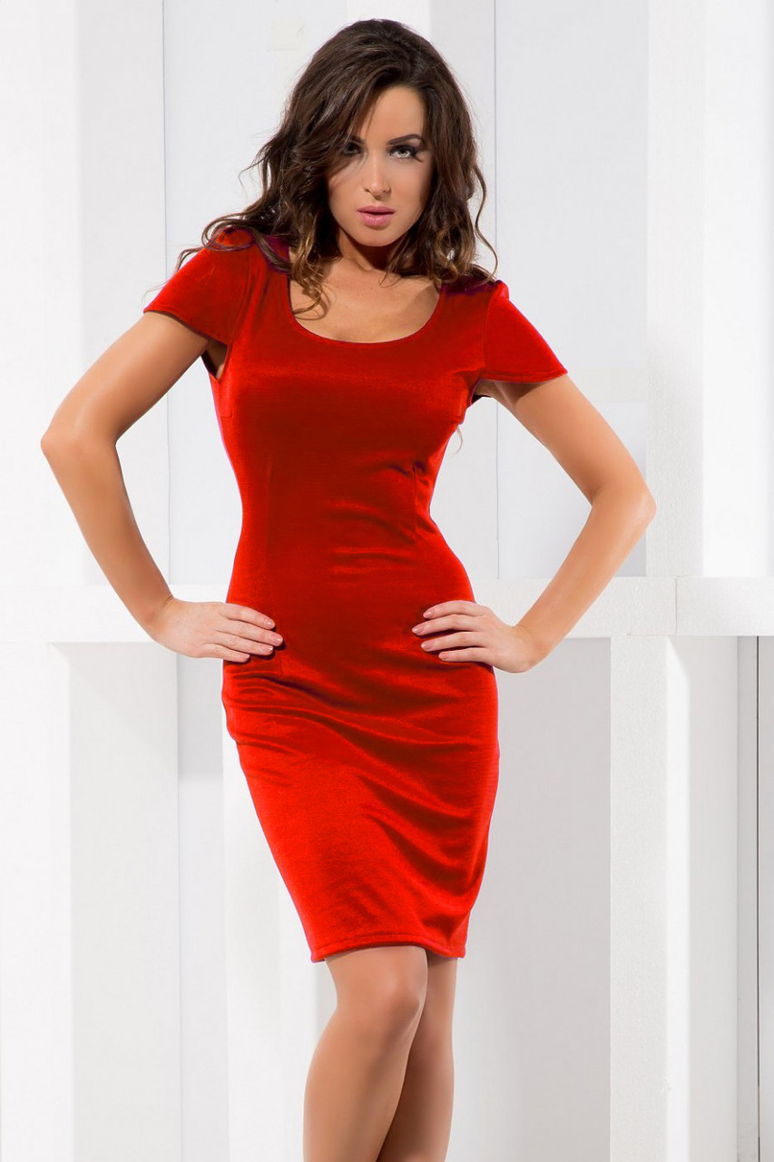 c30e97ef9d8 Красное платье-футляр от производителя - Производитель женской одежды