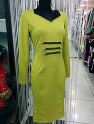 Платье футляр цвет оливкового цвета