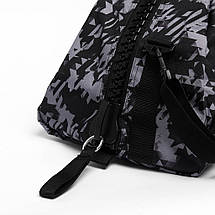 Сумка-рюкзак (2в1) с серебряным логотипом Adidas Karate (серый камуфляж, ADIACC058K), фото 3