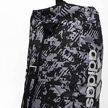 Сумка-рюкзак (2в1) с серебряным логотипом Adidas Karate (серый камуфляж, ADIACC058K), фото 2