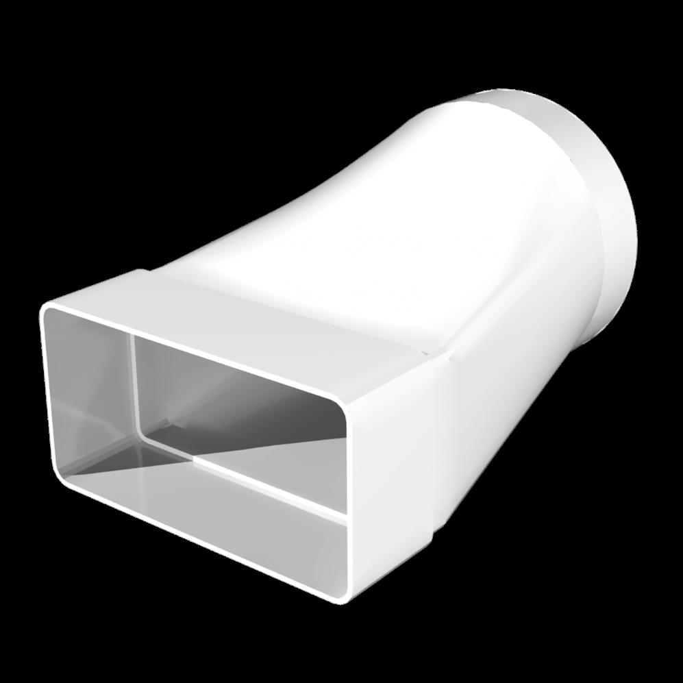 З'єднувач Ера плоского каналу з круглим 55 х 110 мм х 100 мм (60-283)
