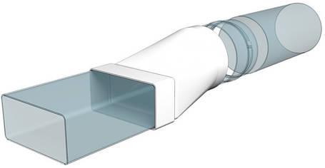 З'єднувач Ера плоского каналу з круглим 55 х 110 мм х 100 мм (60-283), фото 2