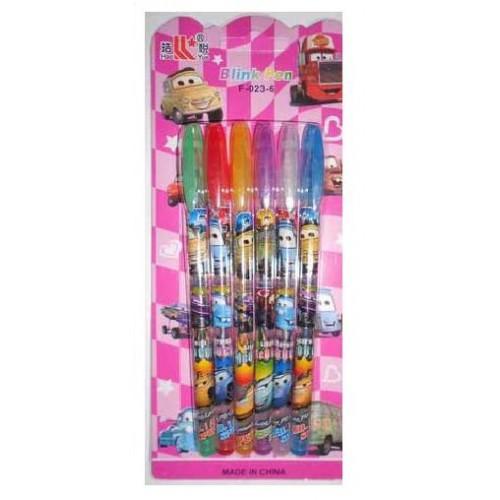 """Ручки гелевые, набор в блистере 8 цветов """"Тачки"""" блестящие Josef Otten"""