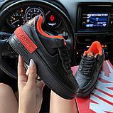 Жіночі кросівки Nike Air Force 1 Shadow Black Orange., фото 3
