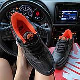 Жіночі кросівки Nike Air Force 1 Shadow Black Orange., фото 5
