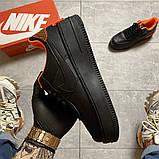 Жіночі кросівки Nike Air Force 1 Shadow Black Orange., фото 6