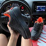 Жіночі кросівки Nike Air Force 1 Shadow Black Orange., фото 7