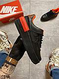 Жіночі кросівки Nike Air Force 1 Shadow Black Orange., фото 9