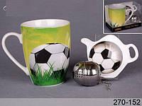 """Чашка с подставкой и ситечком """"Футбол"""""""