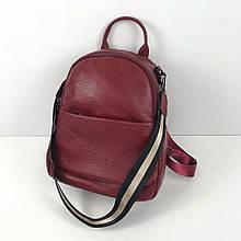 Рюкзак с клапаном и двумя косичками / натуральная кожа кт-2830 Черный
