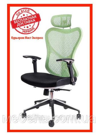 Кресло для врача Barsky Fly-04 Butterfly White/Green, сеточное кресло, белый / зеленый, фото 2