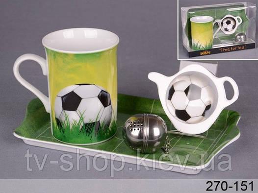 "Чайный набор 4 пр,  ""Футбол"""