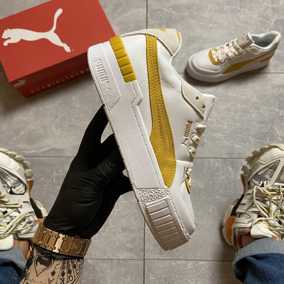 Женские кроссовки  Puma Select Cali Sport White Yellow.