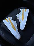 Женские кроссовки  Puma Select Cali Sport White Yellow., фото 2
