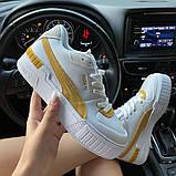 Женские кроссовки  Puma Select Cali Sport White Yellow., фото 5