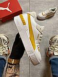 Женские кроссовки  Puma Select Cali Sport White Yellow., фото 6