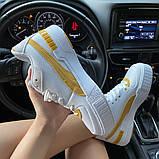 Женские кроссовки  Puma Select Cali Sport White Yellow., фото 7