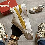 Женские кроссовки  Puma Select Cali Sport White Yellow., фото 9