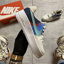 Женские кроссовки Nike Air Force 1 Low White Blue