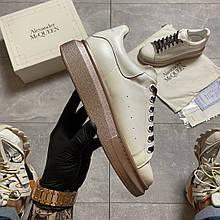 Жіночі кросівки Alexander McQueen White Brown.