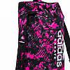 Сумка-рюкзак (2в1) с серебряным логотипом Adidas Karate (розовый камуфляж, ADIACC058K), фото 3