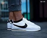 Мужские кроссовки Nike Cortez (бело/черные), фото 2