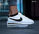Мужские кроссовки Nike Cortez (бело/черные), фото 3