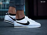 Мужские кроссовки Nike Cortez (бело/черные), фото 4