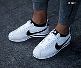 Мужские кроссовки Nike Cortez (бело/черные), фото 6