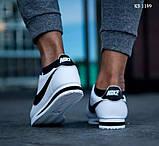 Мужские кроссовки Nike Cortez (бело/черные), фото 7